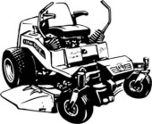 Lawn mower free images. Mowing clipart