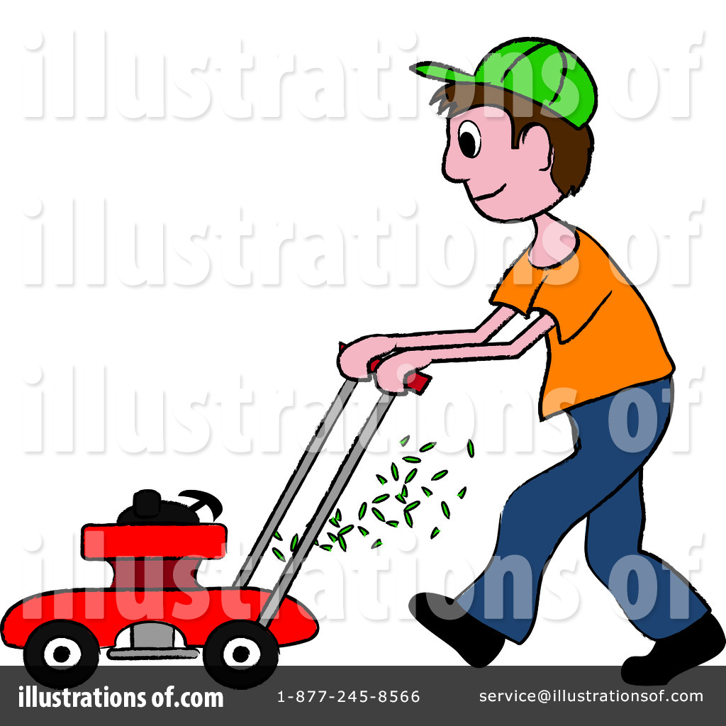 Mowing clipart. Lawn illustration by pams
