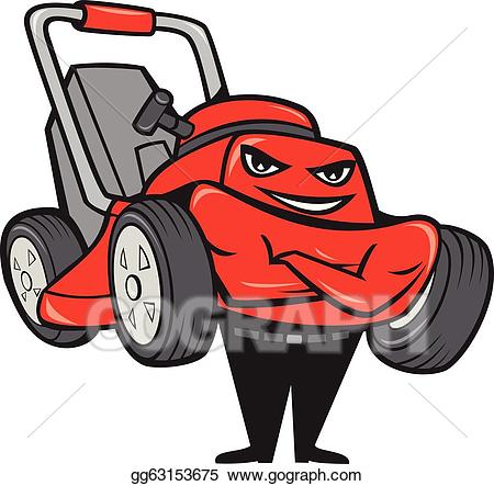 Vector stock lawn mower. Mowing clipart lawnmower man