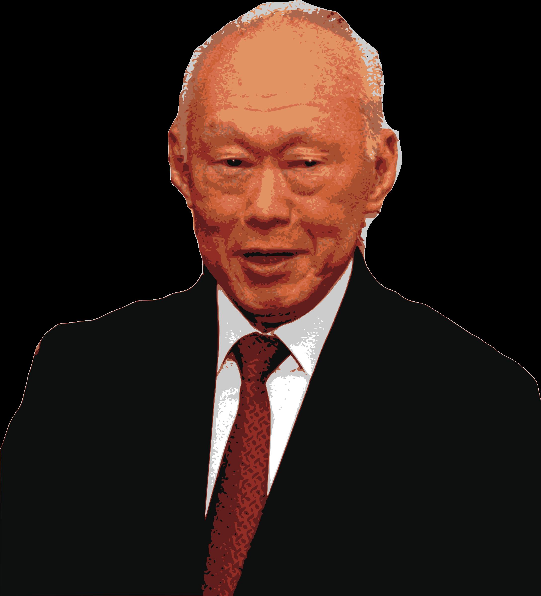 Lee kuan yew big. Politics clipart prime minister