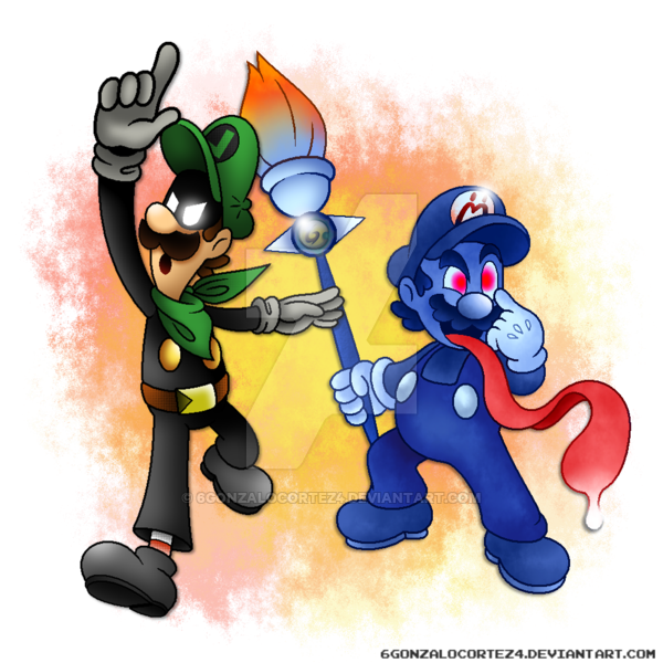 Mr clipart man shadow. L and mario by
