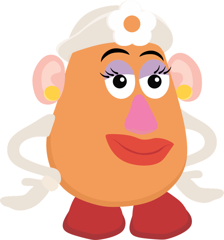Toy story minus sticker. Mr clipart mrs potato head