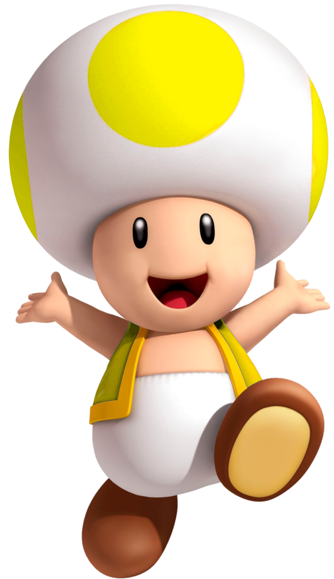Youtube clipart mario. Yellow toad by yoshigo