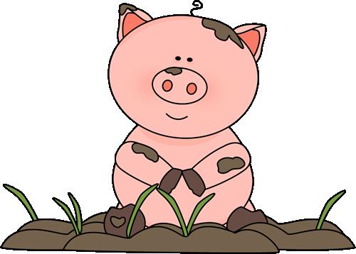 Mud clipart. Free pig clip art