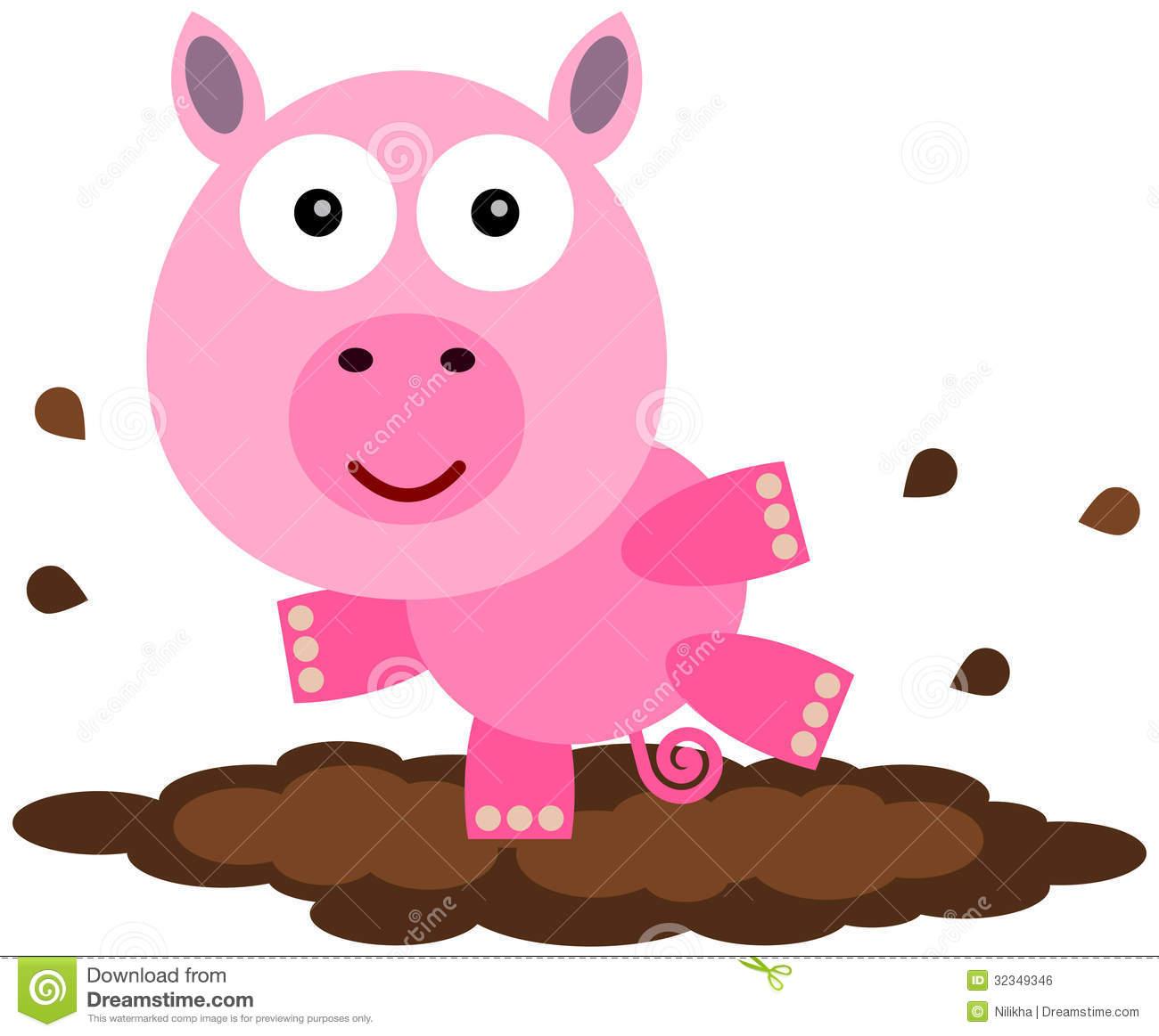 Mud clipart cool pig. X free clip art