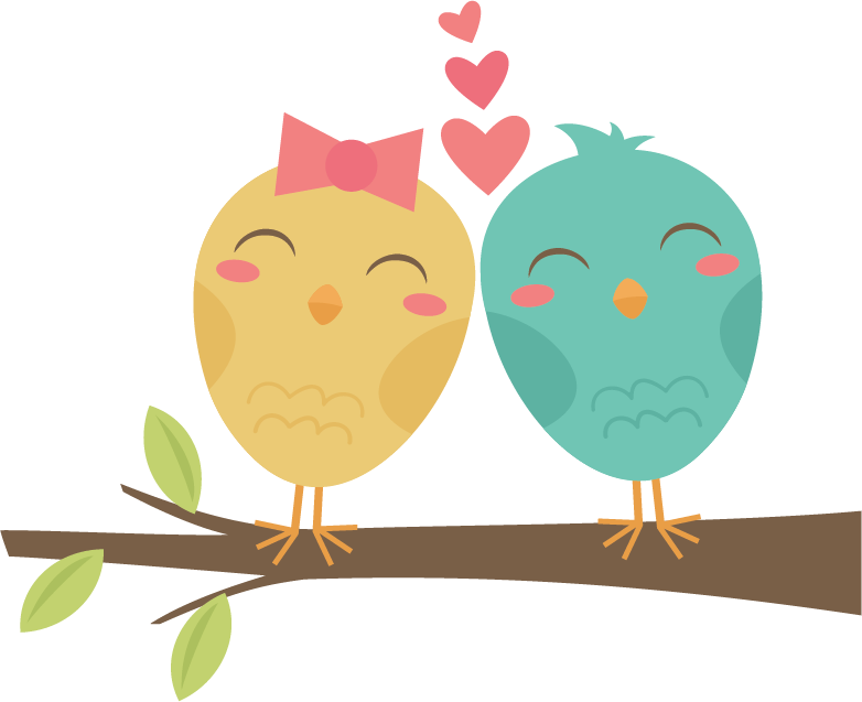 Lovebirds On Branch SVG cut files for scrapbooking cardmaking