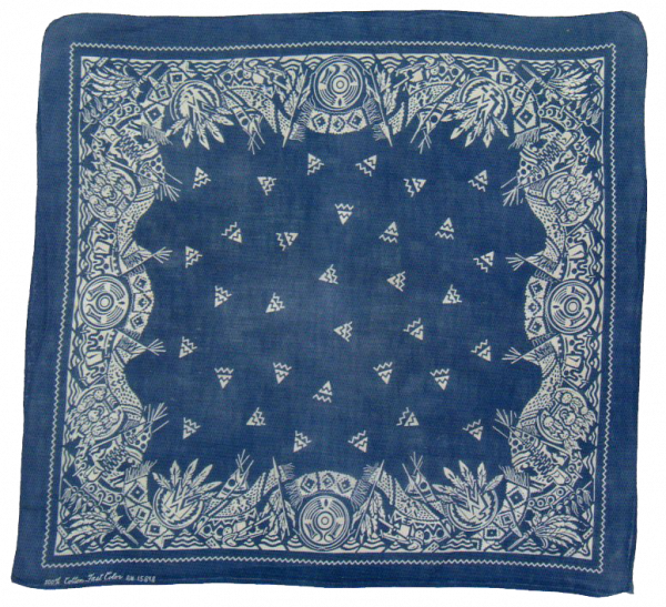 Vintage blue bandana with. Mud clipart texture