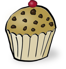 Muffin clipart. Chocolate chips i royalty