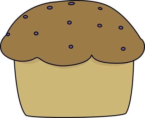 Clip art image. Muffin clipart
