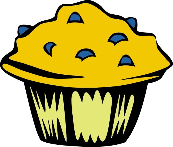 Baking clipart blueberry muffin. Clip art free vector