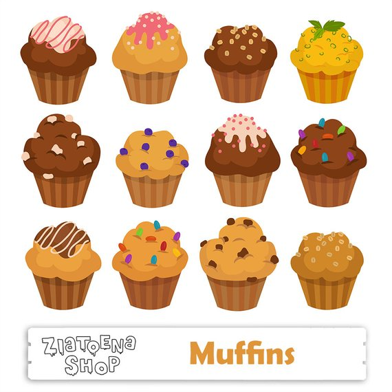 Muffin clipart. Muffins cupcake svg digital