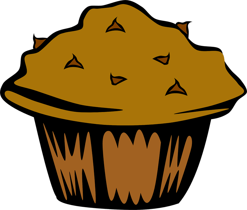 Chocolate chip clip art. Muffin clipart animated