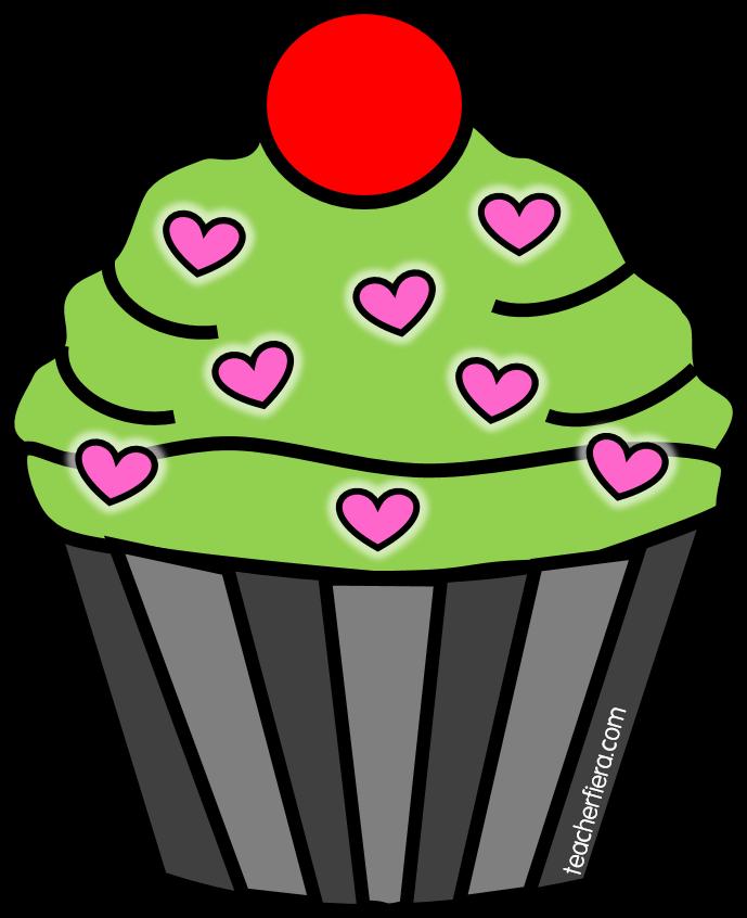 Teacherfiera com cupcake cliparts. Muffin clipart april