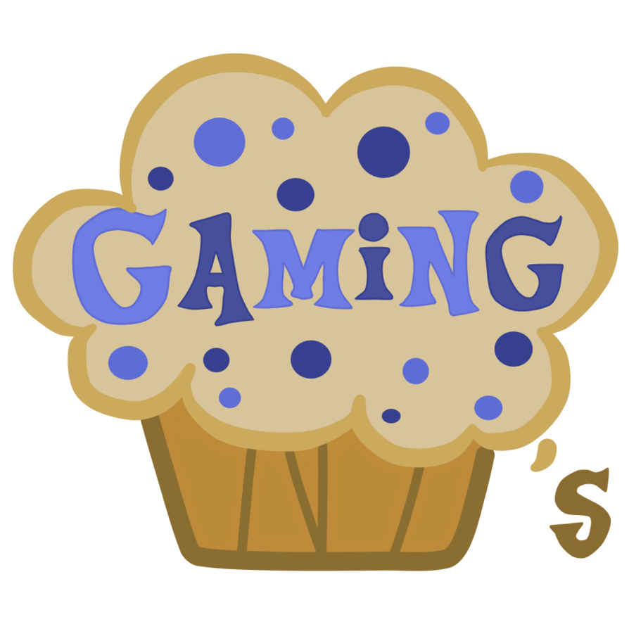 Gaming muffins group logo. Muffin clipart bake sale item