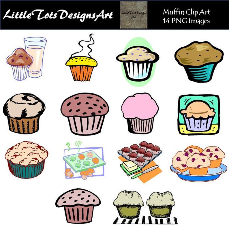 Muffin clipart bakery food. Muffins digital bake cupcake