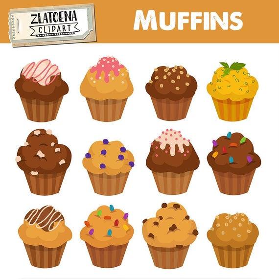 Muffin digital bakery bake. Muffins clipart simple cupcake