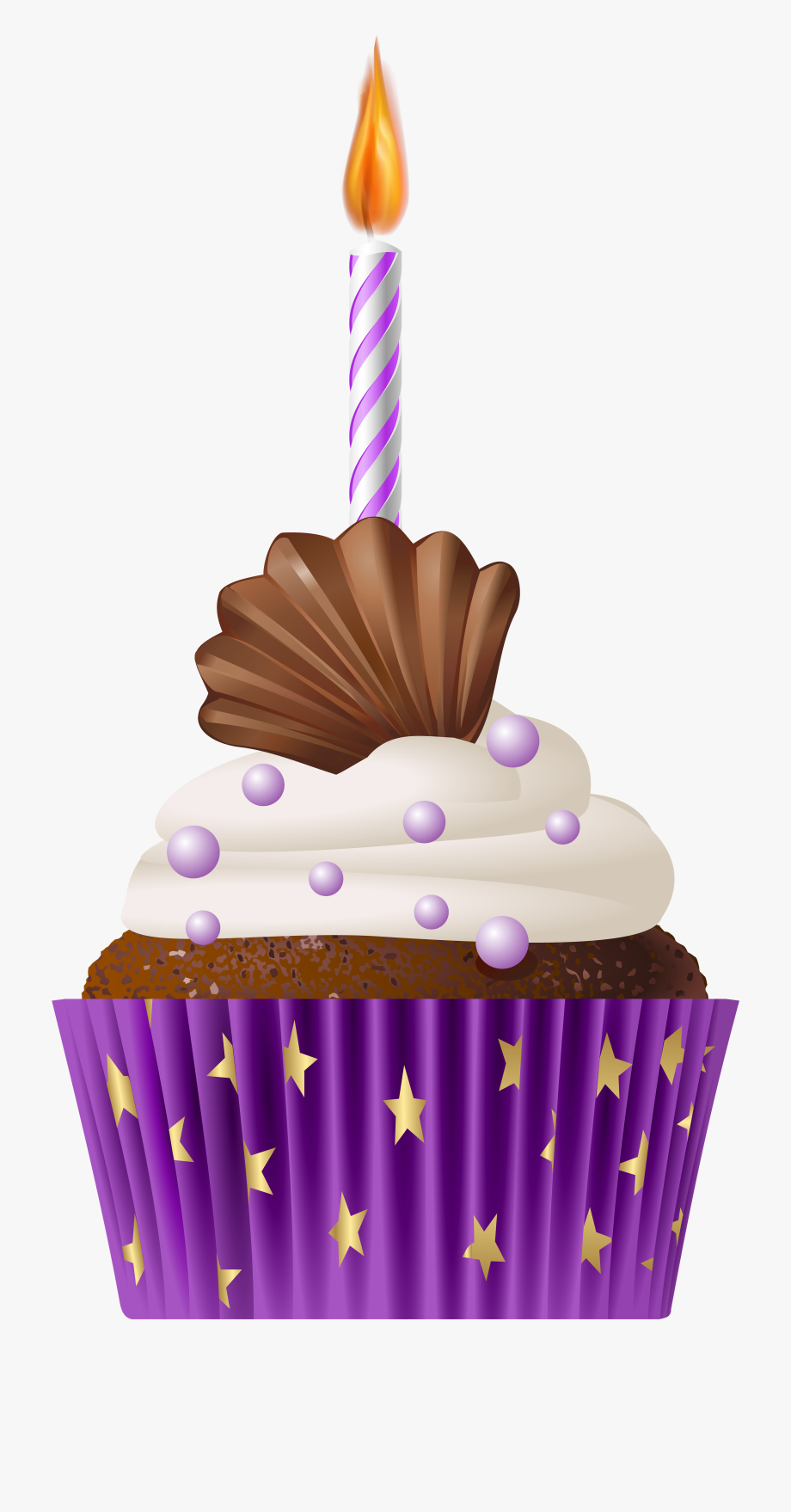 Muffins clipart cupcake birthday. Muffin purple cake candle