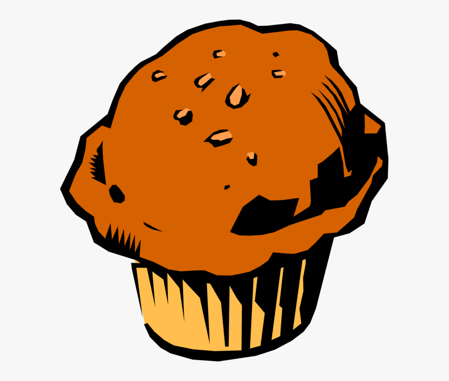 Bakery food image illustration. Muffin clipart breakfast muffin