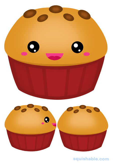 Muffin clipart chocolate chip muffin. Squishable com