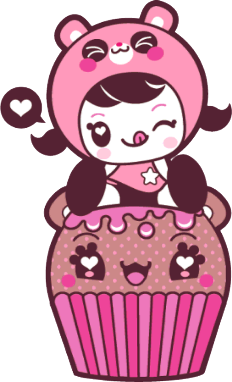 Charukis by may zidan. Muffin clipart cupcake hello kitty