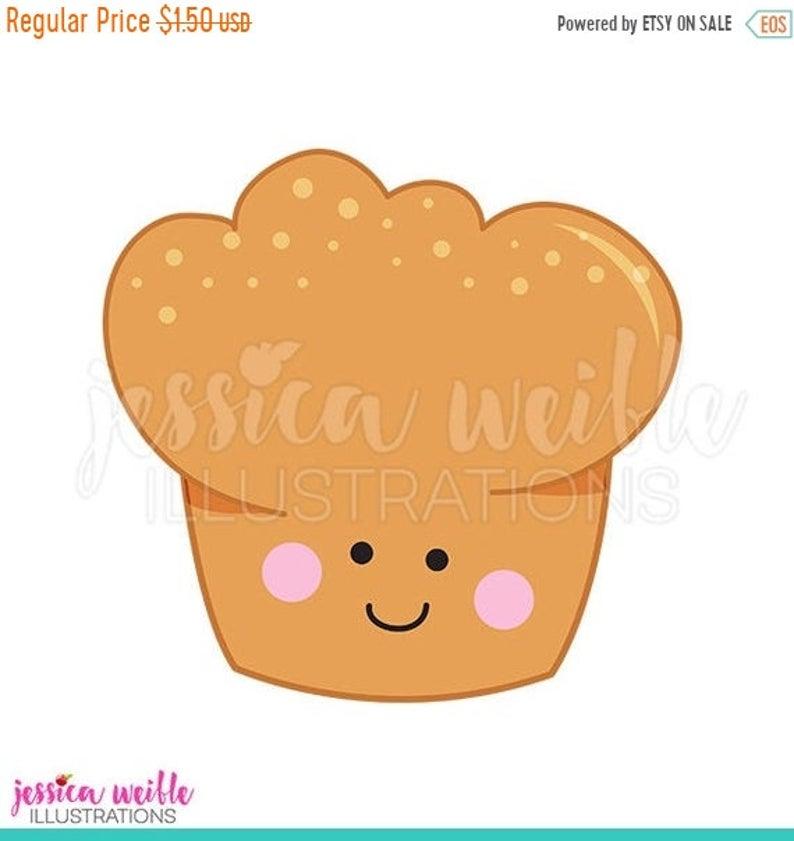 Muffins clipart cute. Sale happy muffin digital