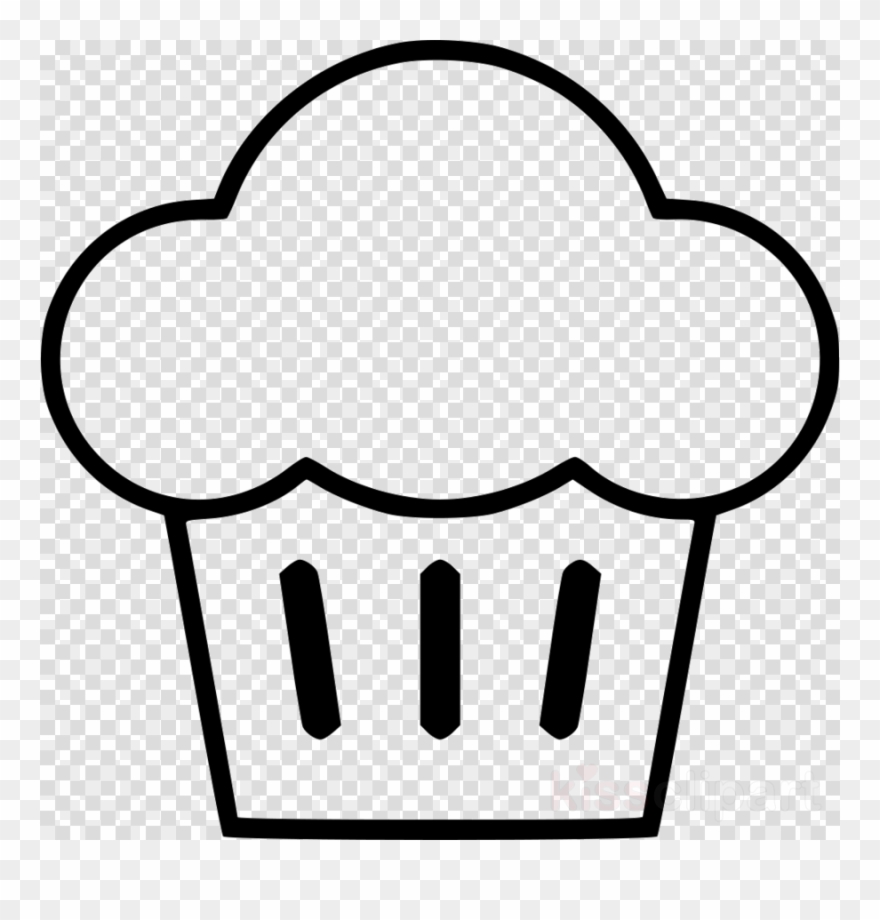 Muffins clipart outline. Muffin clip art black