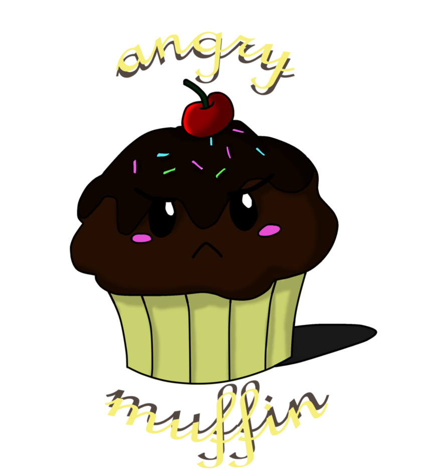 Muffin clipart if you give a moose a muffin. Angry by kissingcyanide on
