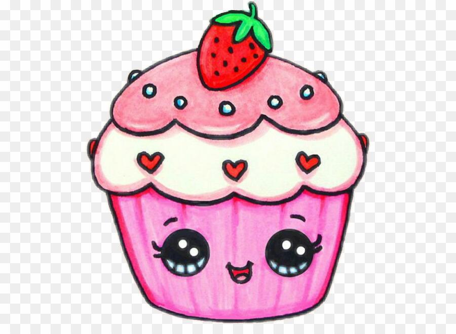 Dessin cupcake png drawing. Muffin clipart kawaii