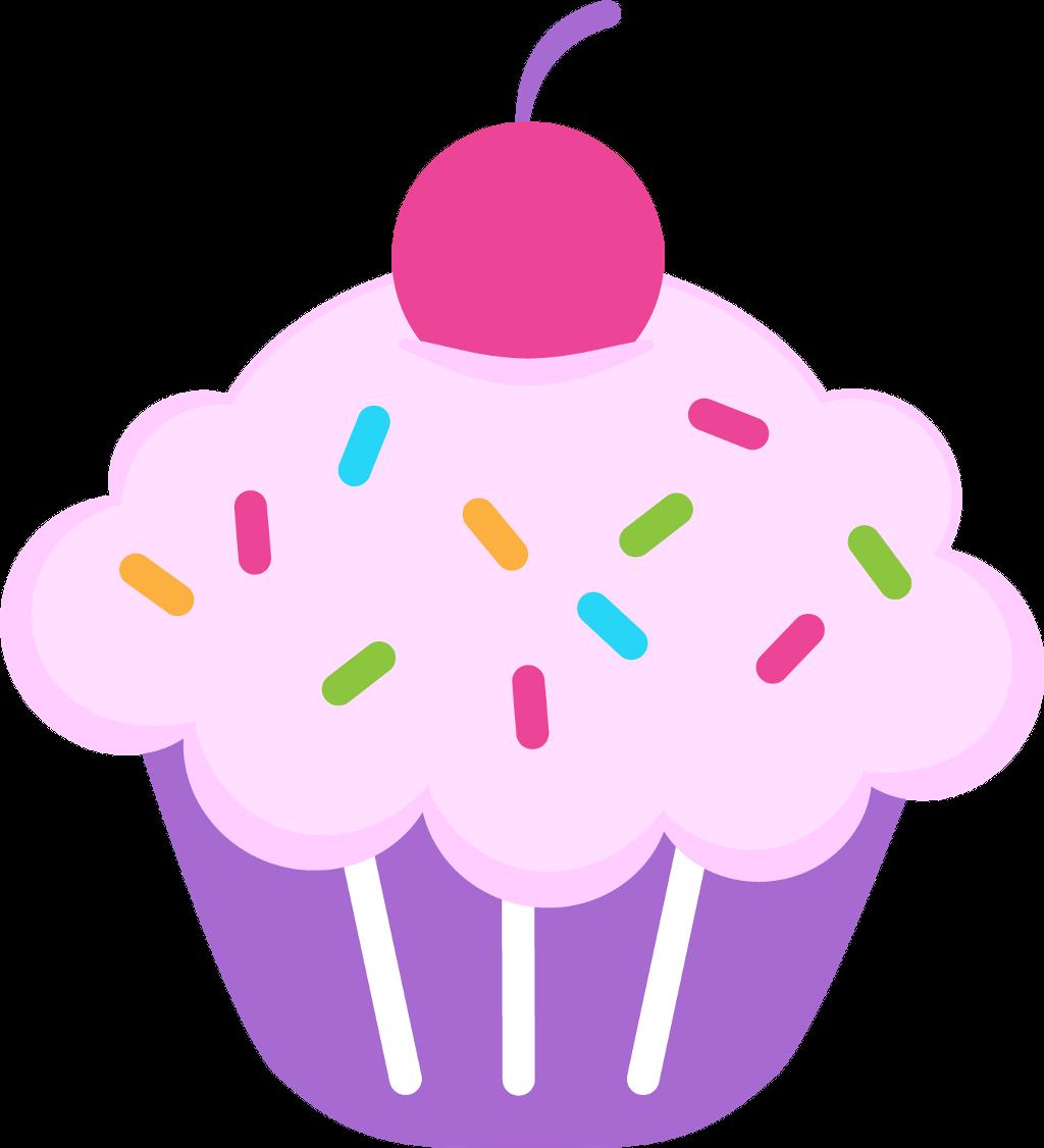 Muffin clipart kawaii. Cupcake fofo cute sticker