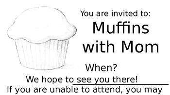 Muffins clipart mom invitation. With