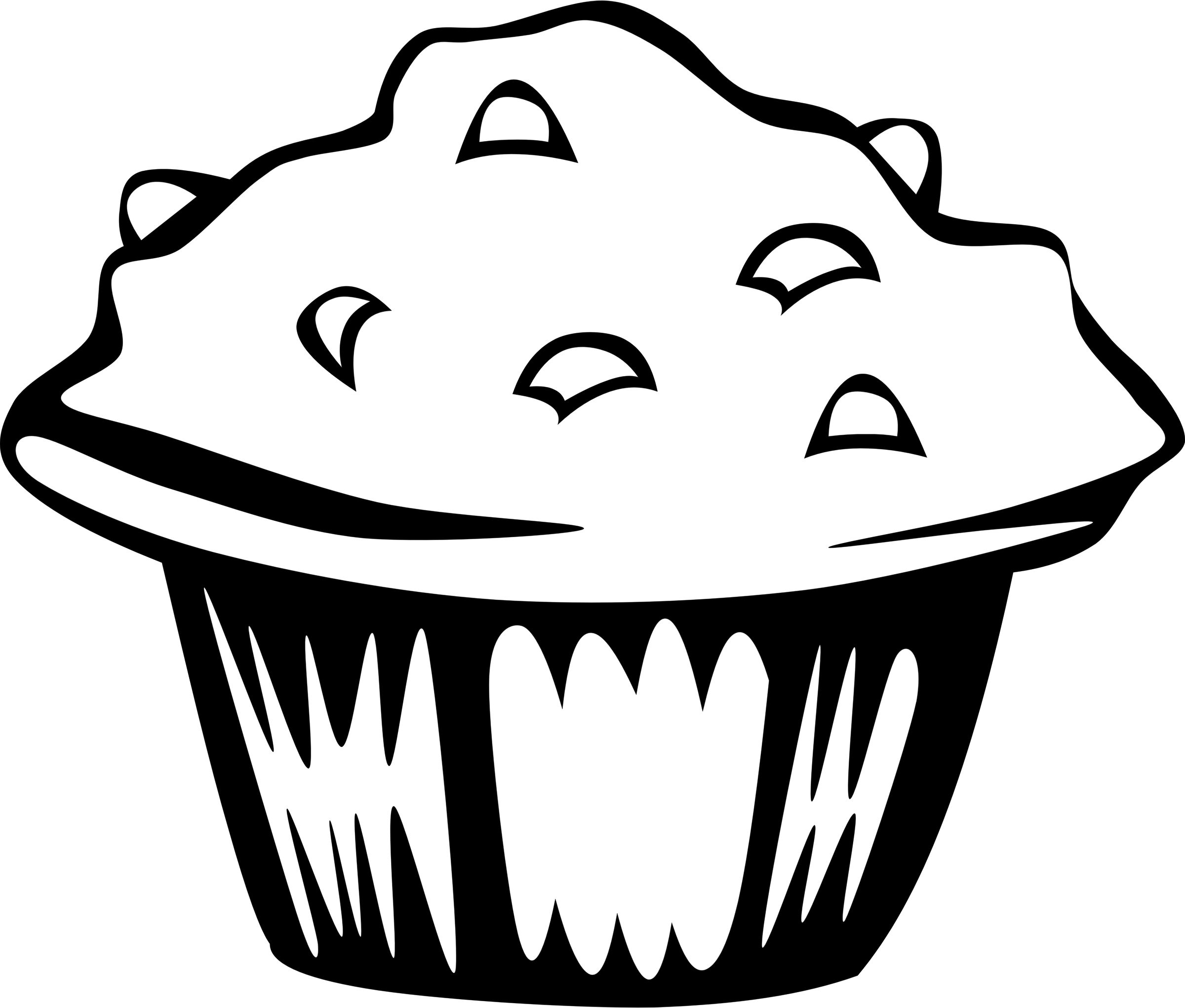 Muffins clipart outline. Fast food breakfast muffin