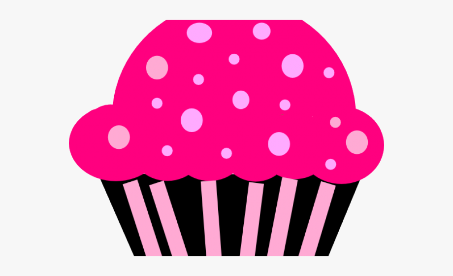 Muffin clipart pink cupcake. And black free