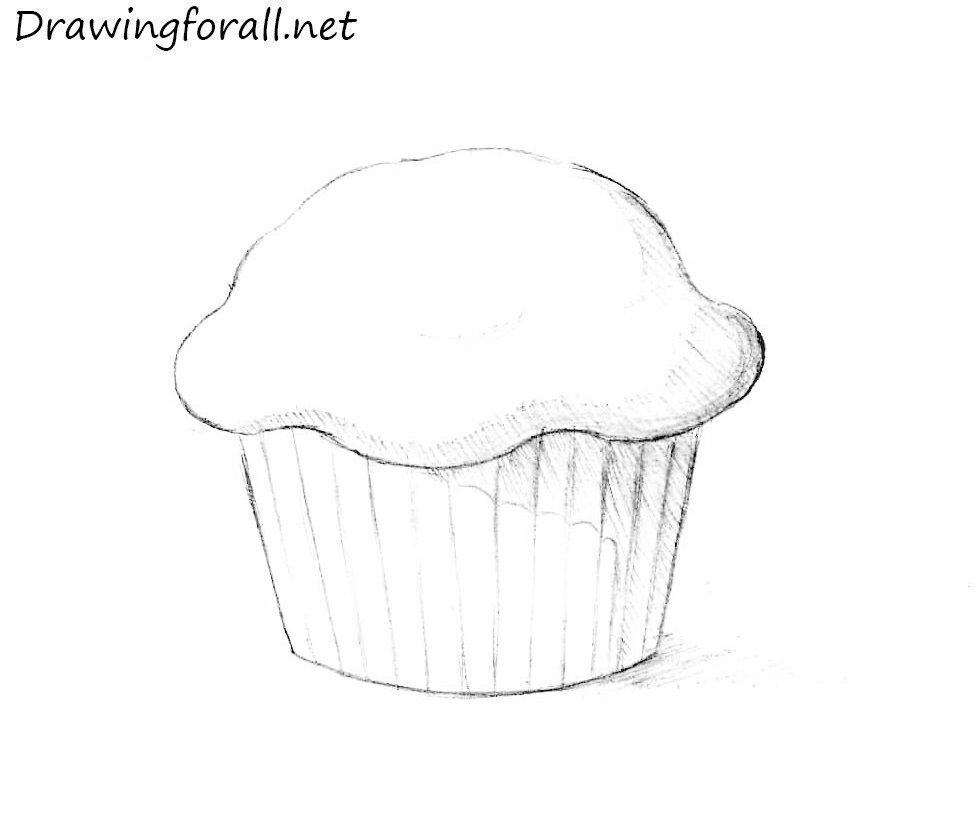 How to draw a. Muffin clipart sketch