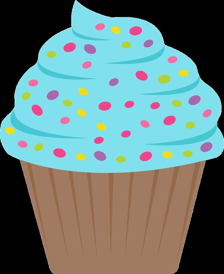 Muffin clipart small cupcake. Birthday cupcakes clip art