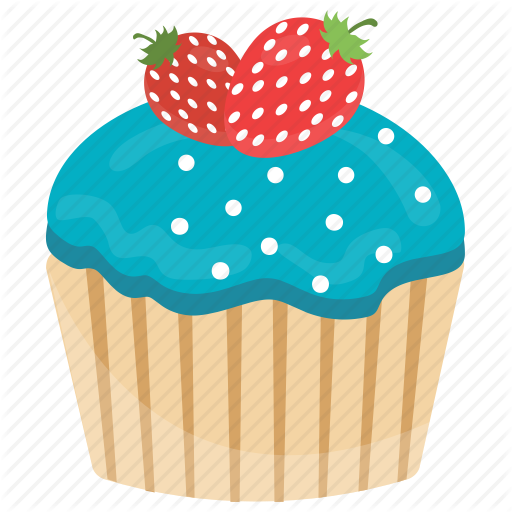 cup cakes by. Muffin clipart strawberry muffin