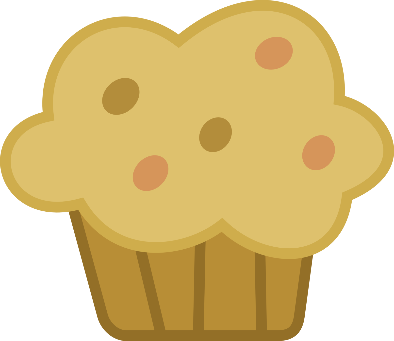 collection of muffin. Muffins clipart cute