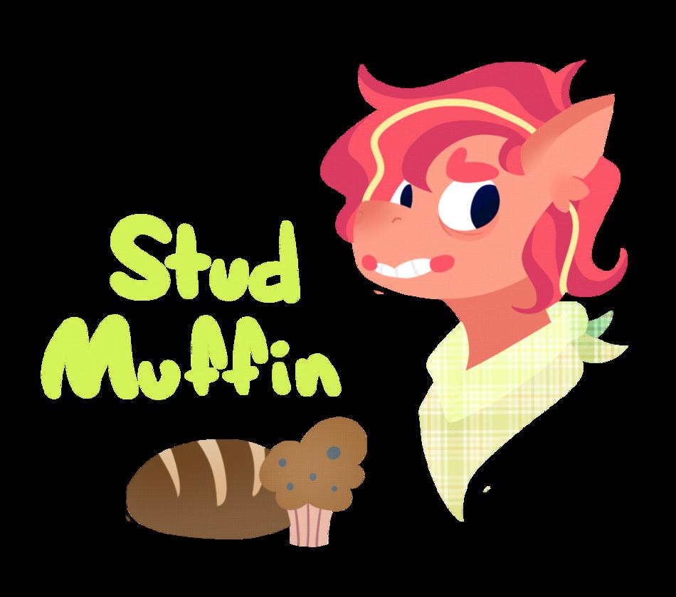 Muffin clipart stud muffin. Oc revamp by kurtkrawler