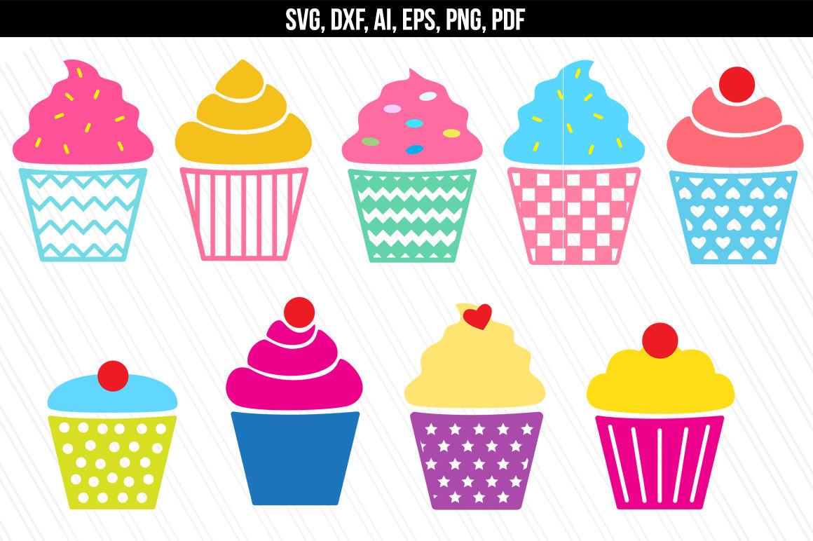 Cupcake bakery dessert by. Muffin clipart svg
