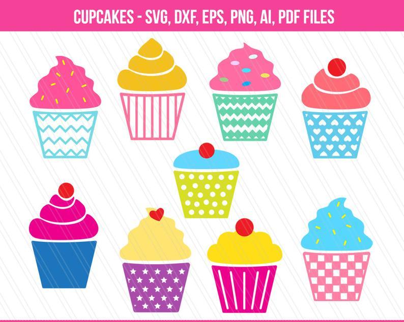 Muffin clipart svg. Cupcake cupcakes cut files