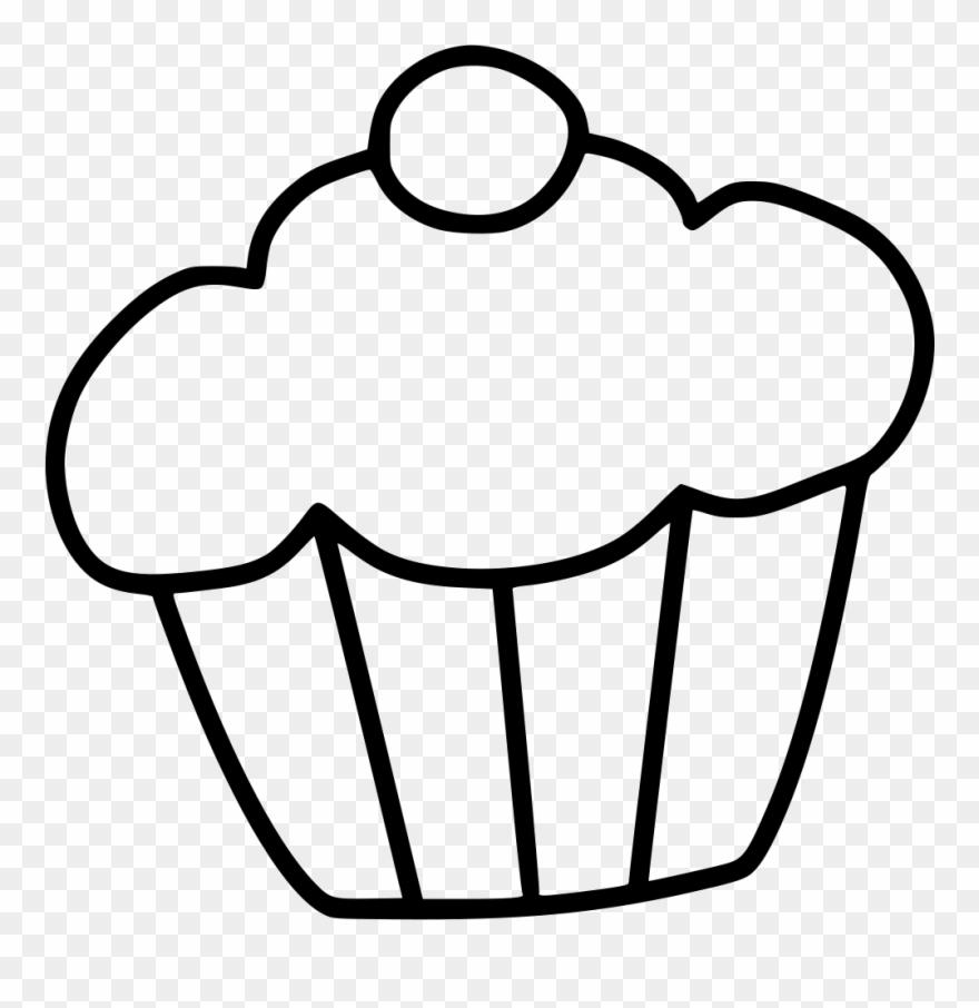 Cake dessert sweet png. Muffin clipart svg