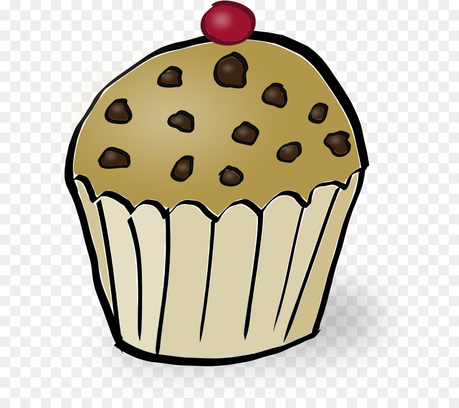 Chocolate cartoon . Muffins clipart frosted cupcake