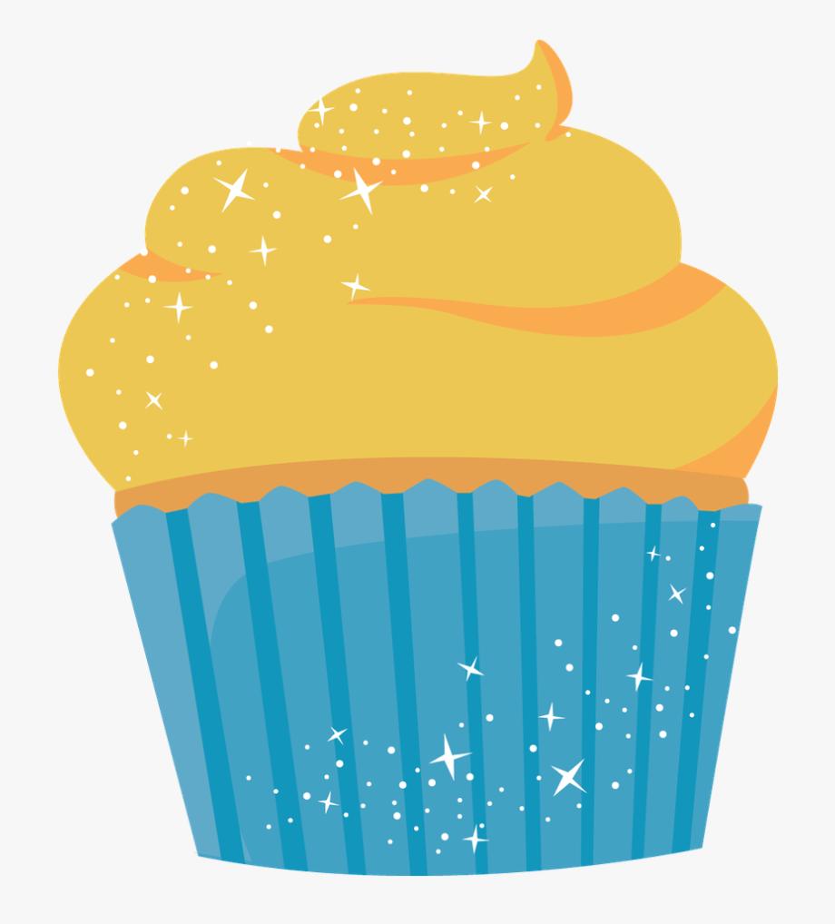 Muffin decoration clip art. Muffins clipart yellow cupcake
