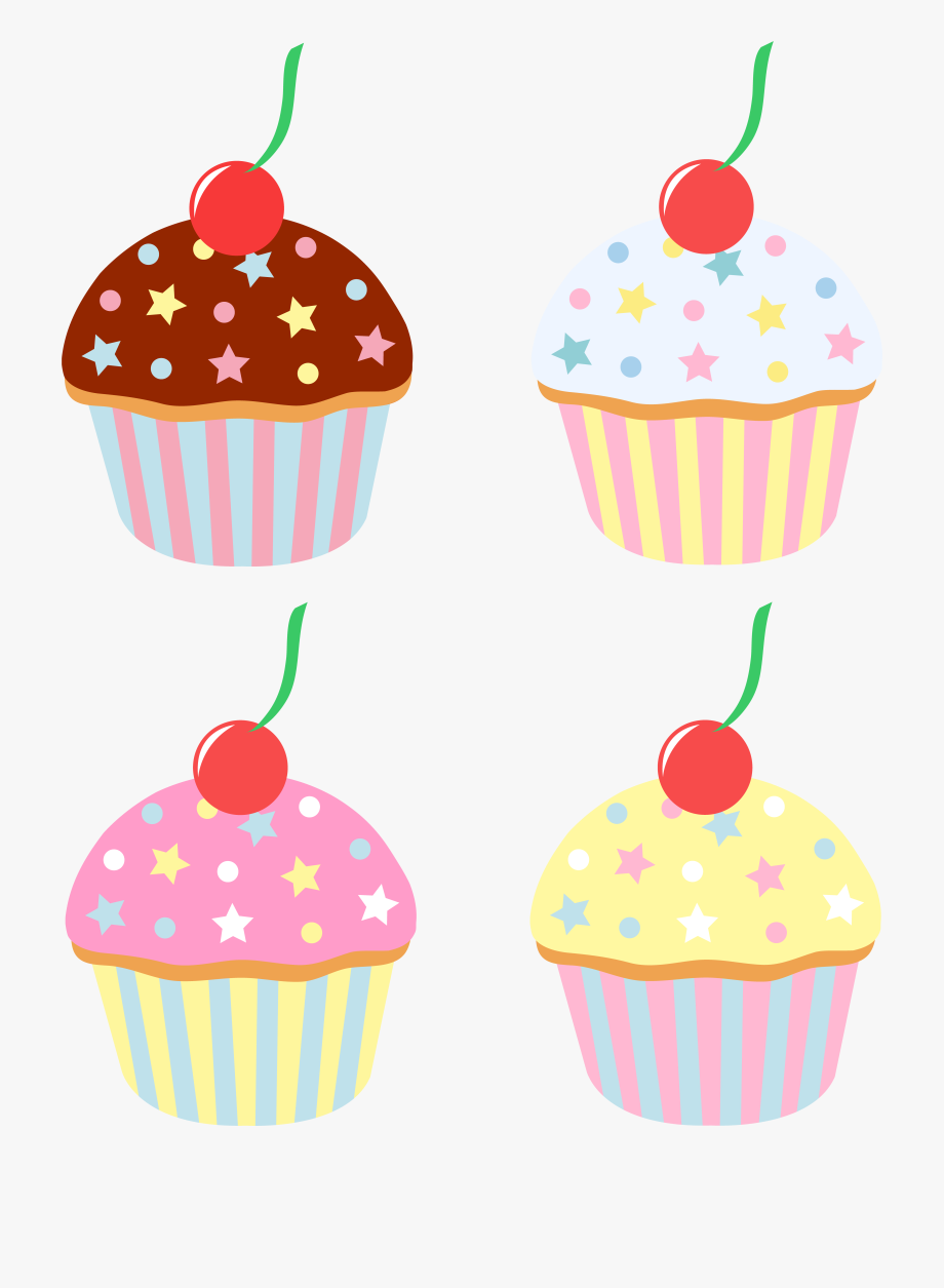 Cartoon cakes and sweets. Muffin clipart yummy cupcake