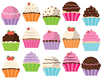 Etsy cute cupcakes cakes. Muffins clipart