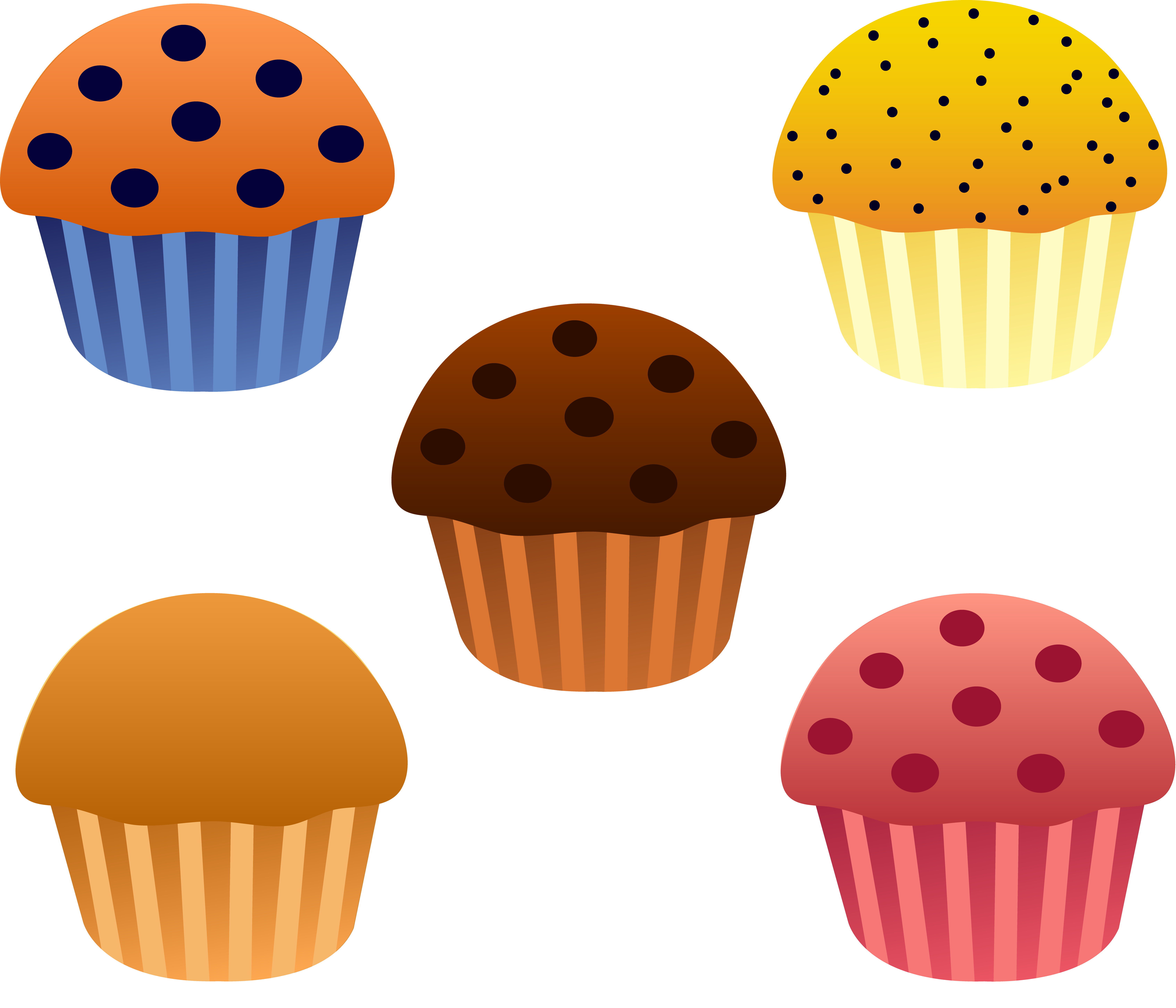 Muffins clipart. Plate of clipartfest food