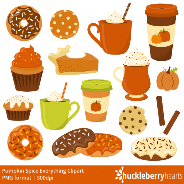 Pumpkin spice fall donut. Muffins clipart autumn