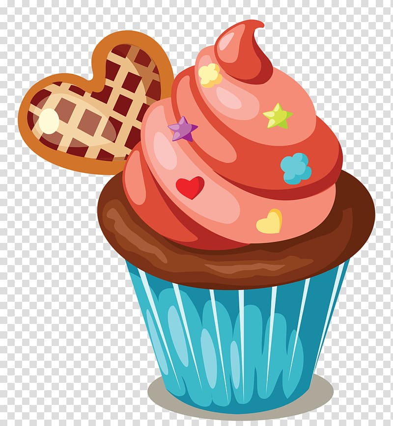 Muffins clipart ckae. Cupcake illustration icing birthday
