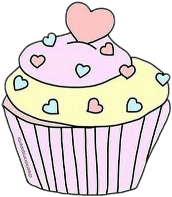 Muffins clipart cupcake tumblr. Sticker by vict ria