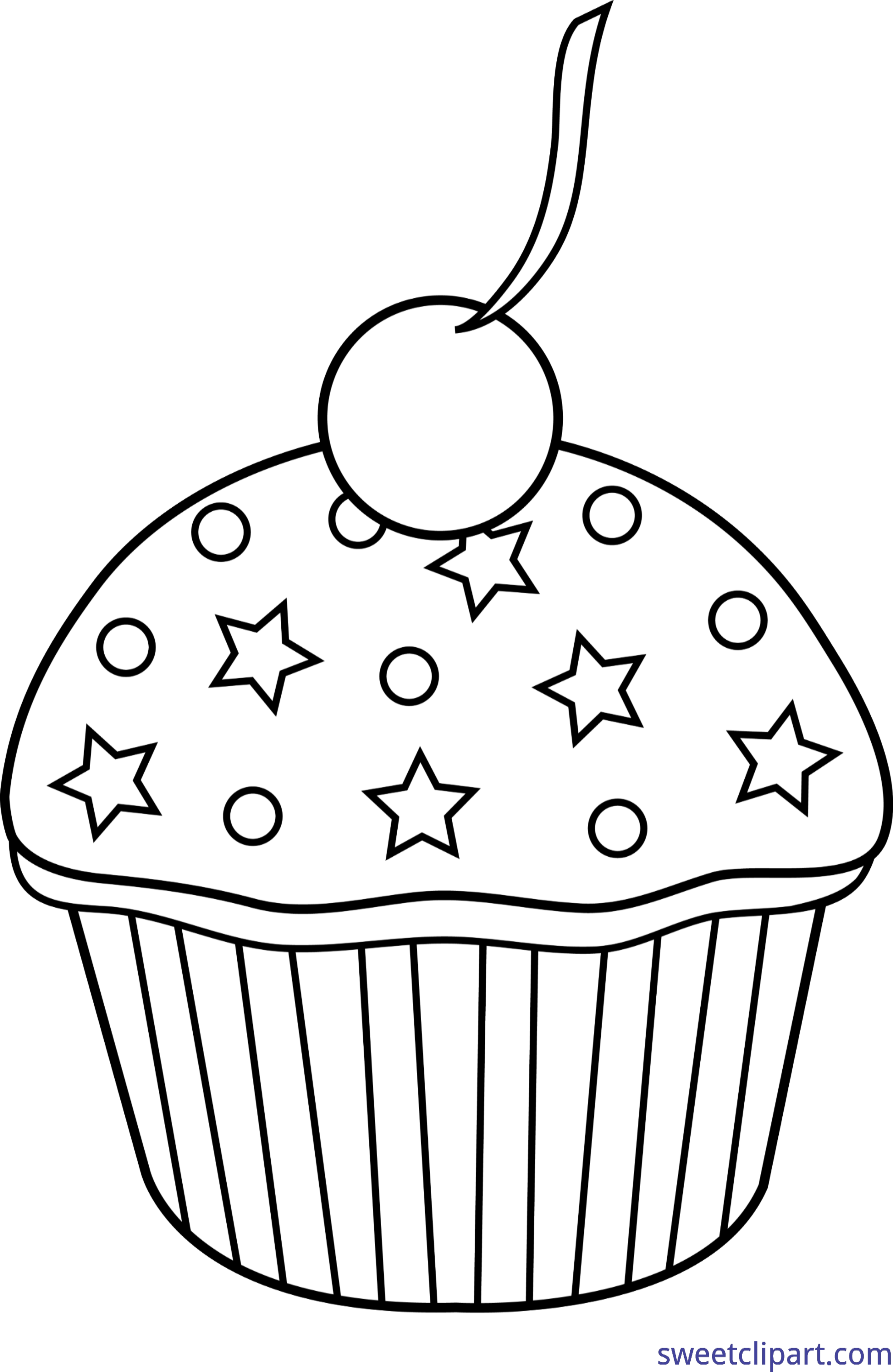Muffins clipart cupcake tumblr. Sprinkles cherry lineart clip