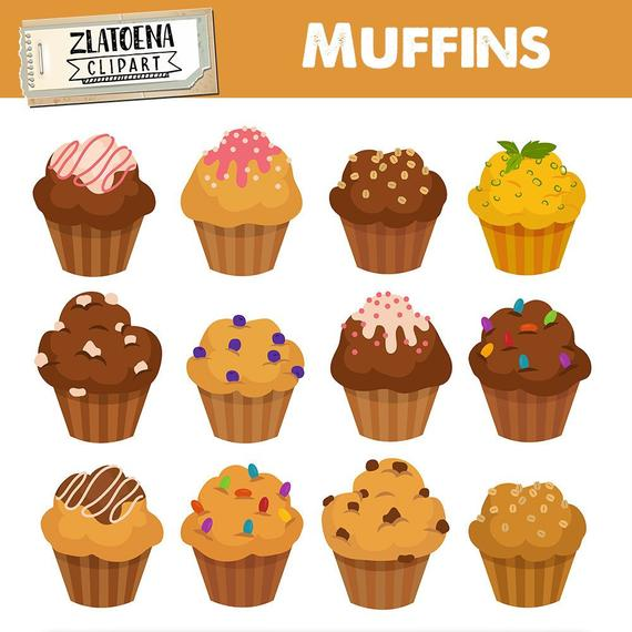 Muffin digital bakery bake. Muffins clipart easy cupcake